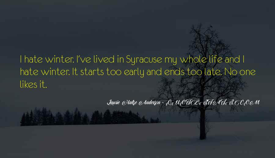 Quotes About Early Winter #1250554