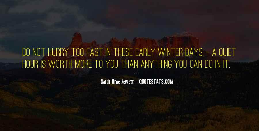 Quotes About Early Winter #795626