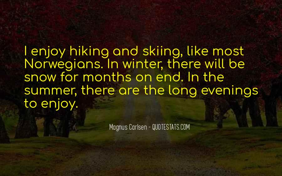 Quotes About Hiking In Winter #670636