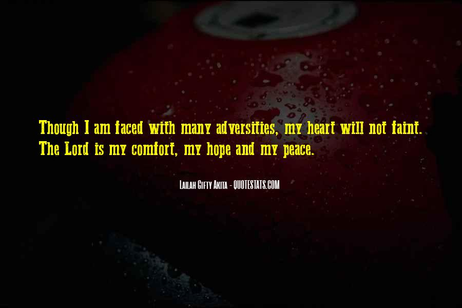 Quotes About Comfort And Peace #1292554