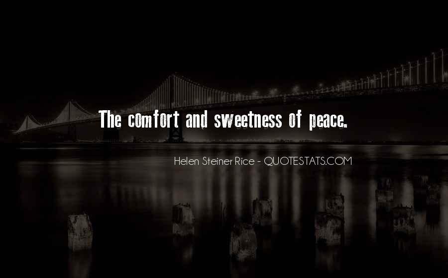 Quotes About Comfort And Peace #1605645