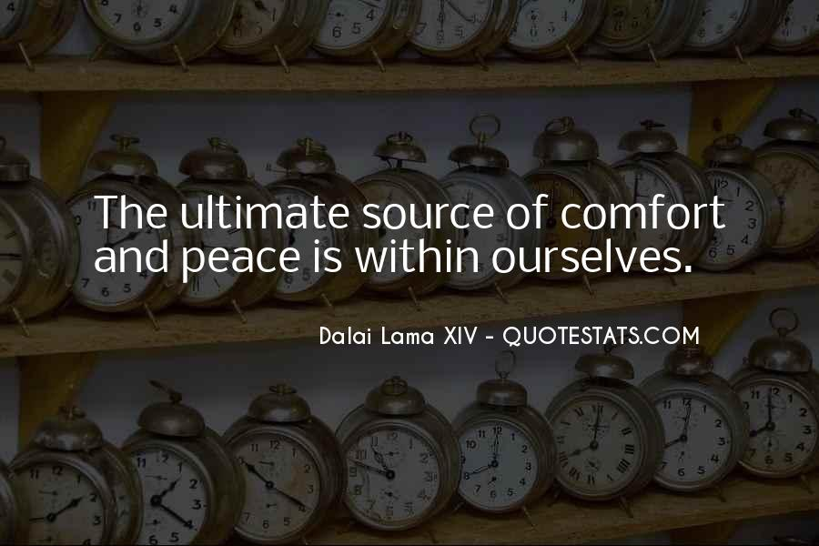 Quotes About Comfort And Peace #258457