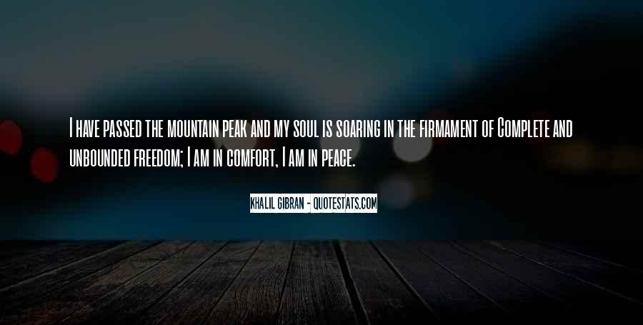Quotes About Comfort And Peace #488695