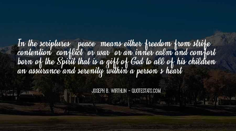 Quotes About Comfort And Peace #730937
