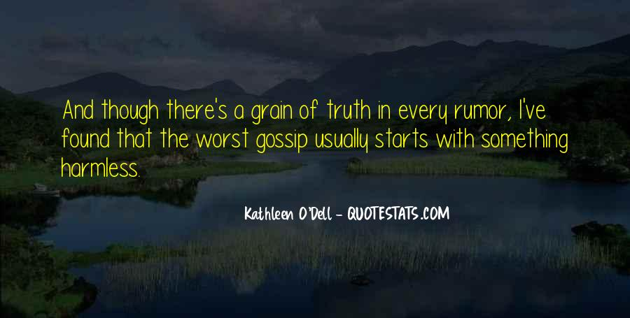 Quotes About Rumors And Gossip #102705