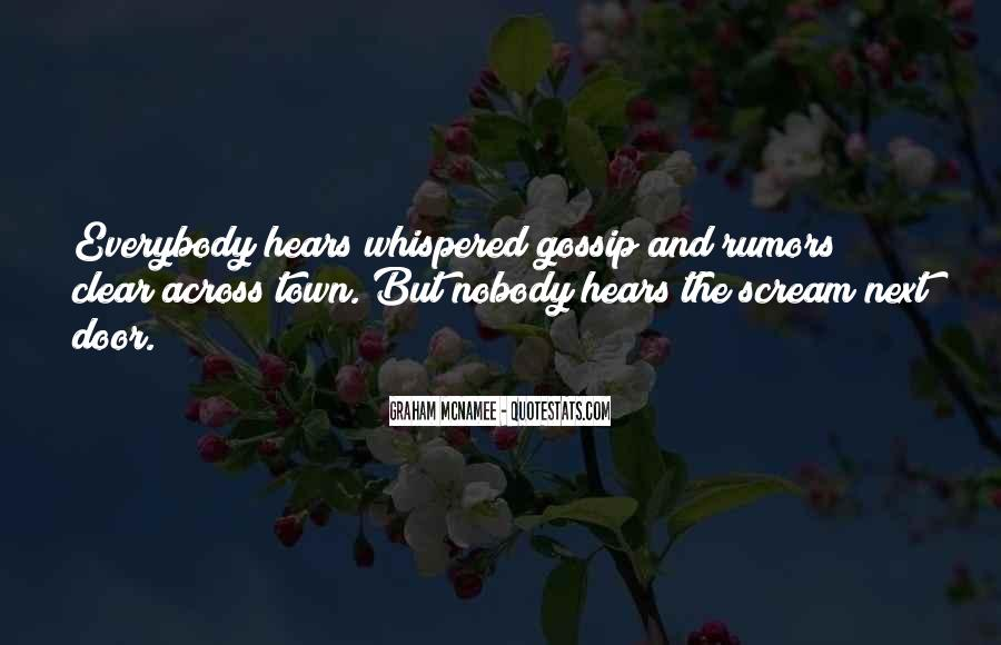 Quotes About Rumors And Gossip #1515718