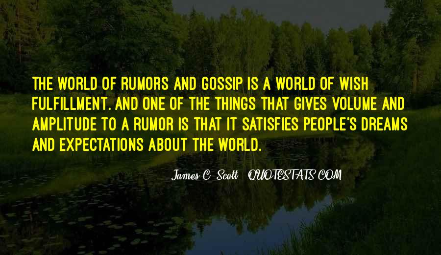 Quotes About Rumors And Gossip #1651653