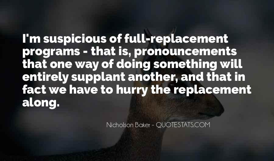 Quotes About Replacement #86873