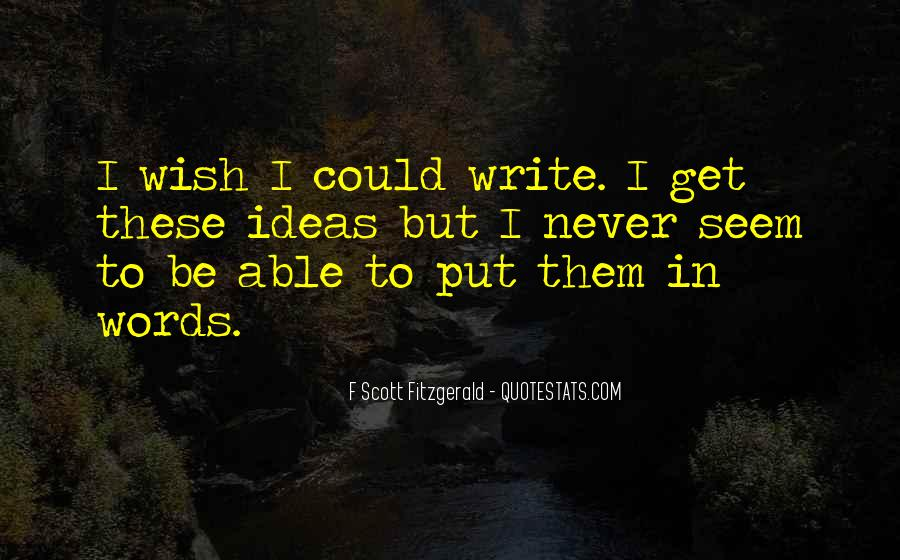 Quotes About Writing F Scott Fitzgerald #1277085