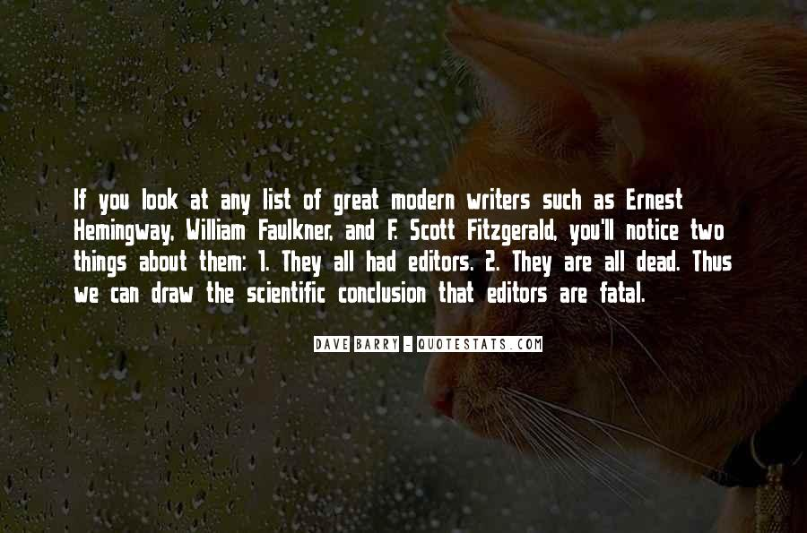 Quotes About Writing F Scott Fitzgerald #218852