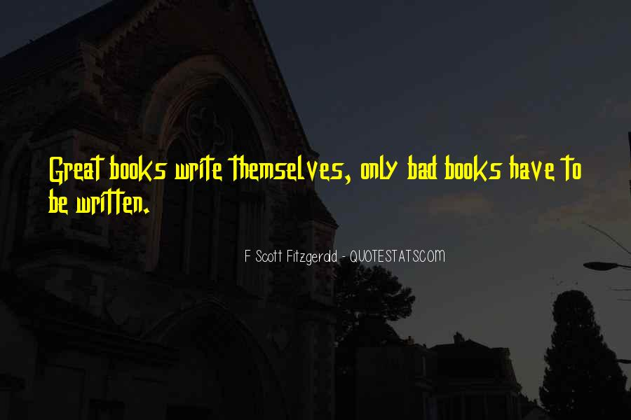 Quotes About Writing F Scott Fitzgerald #701703