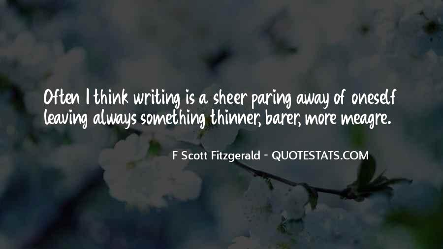Quotes About Writing F Scott Fitzgerald #804668
