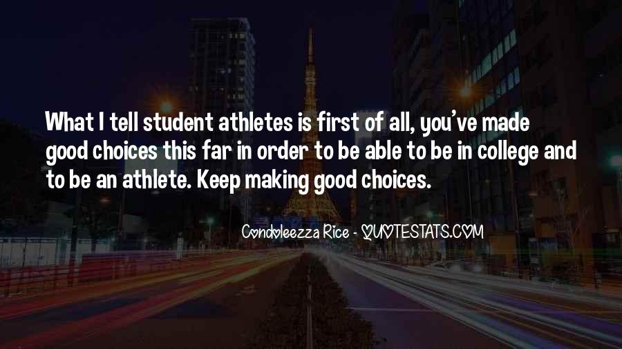 Quotes About College Athletes #1068900