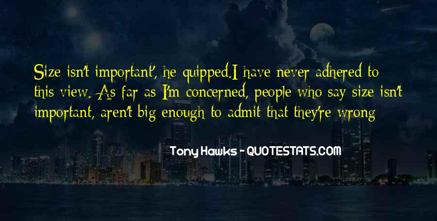 Quotes About Big Size #17695