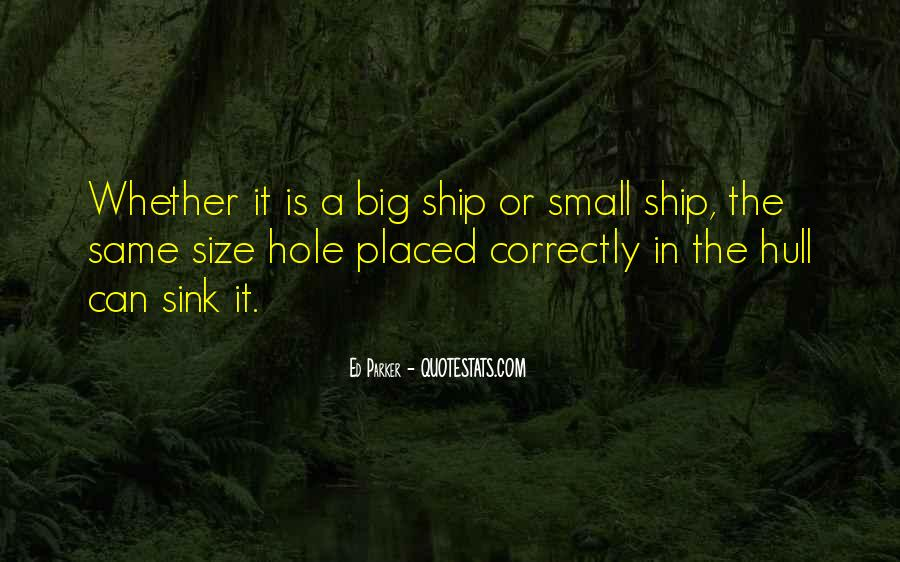 Quotes About Big Size #553593
