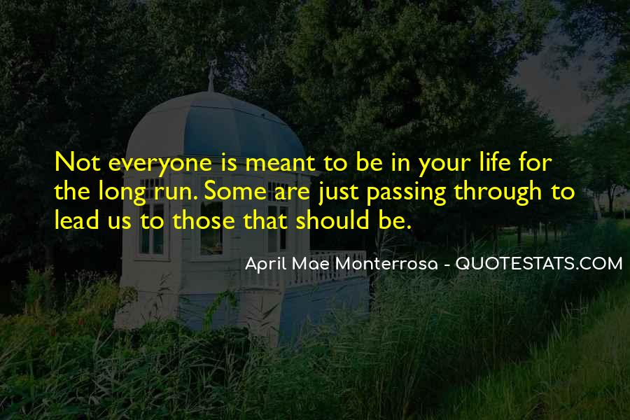 Quotes About Passing Through #243651