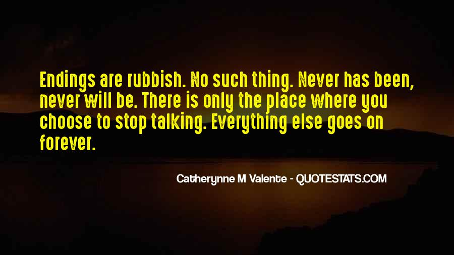 Quotes About Talking Rubbish #151518