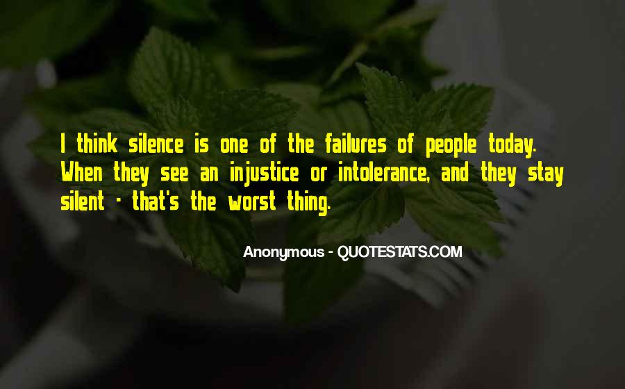 Quotes About Silence And Injustice #1505835