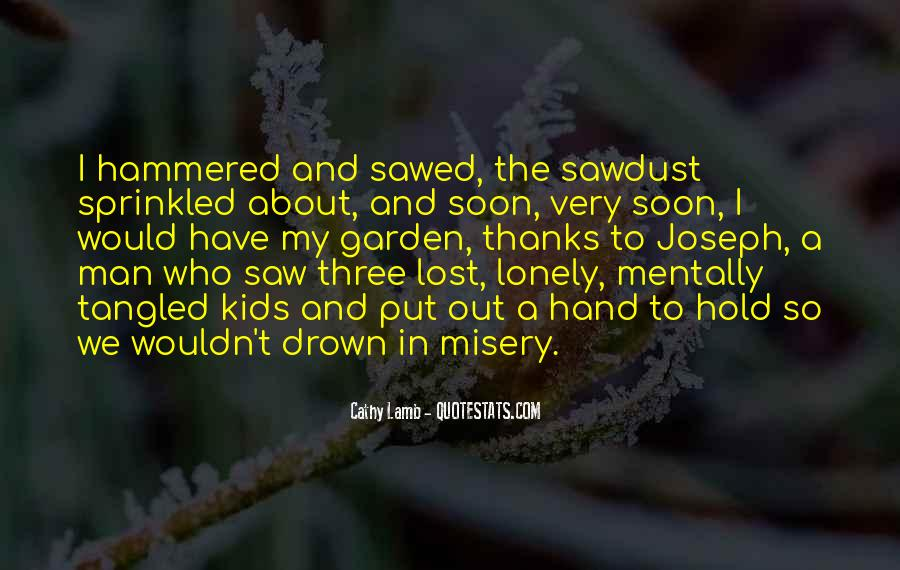 Quotes About Lonely Man #1077471