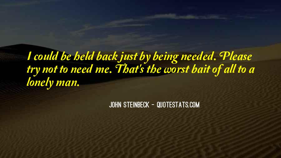 Quotes About Lonely Man #1163249