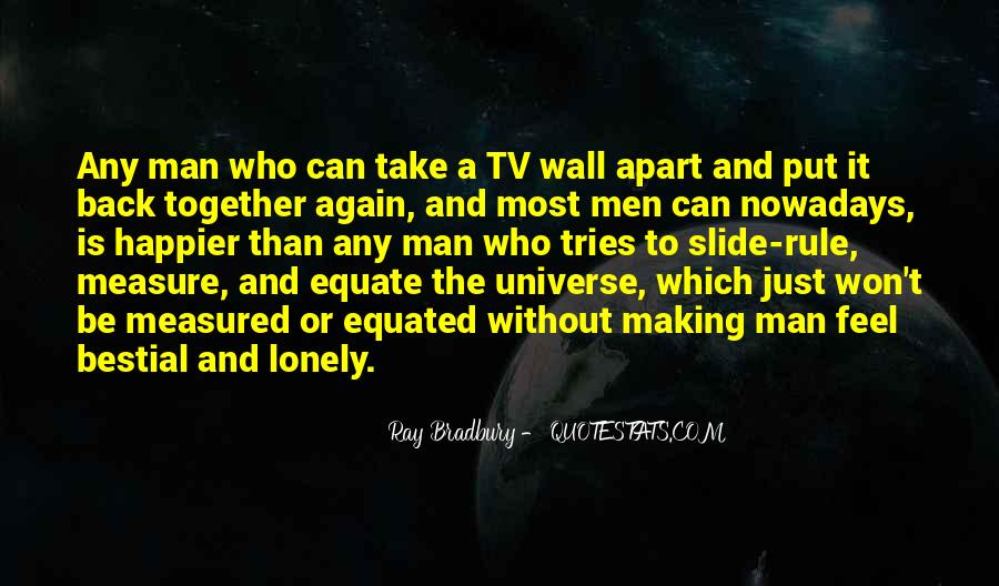 Quotes About Lonely Man #1413309