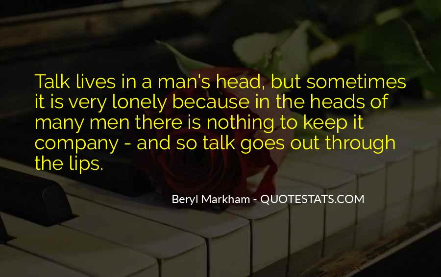 Quotes About Lonely Man #1676525