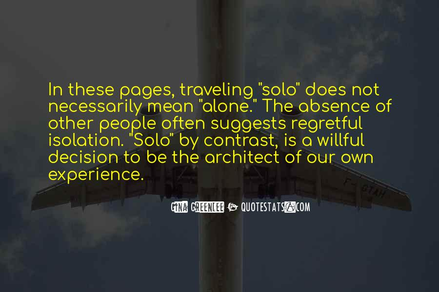 Quotes About Traveling Solo #425089