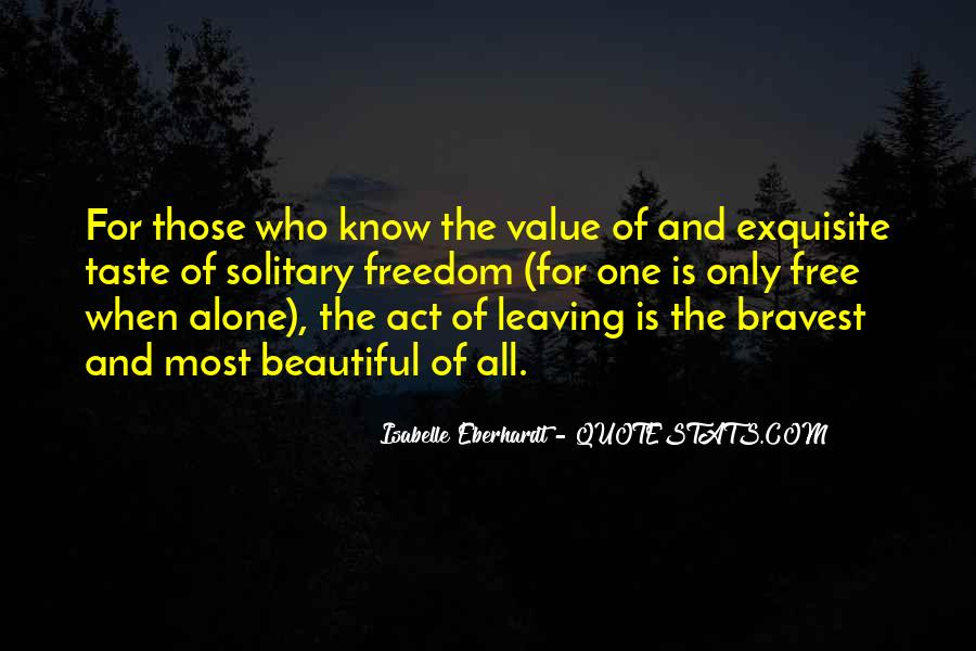 Quotes About Leaving Someone Alone #178152