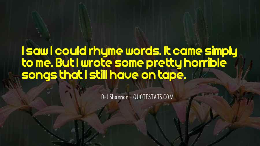 Quotes About Rhyme #291185