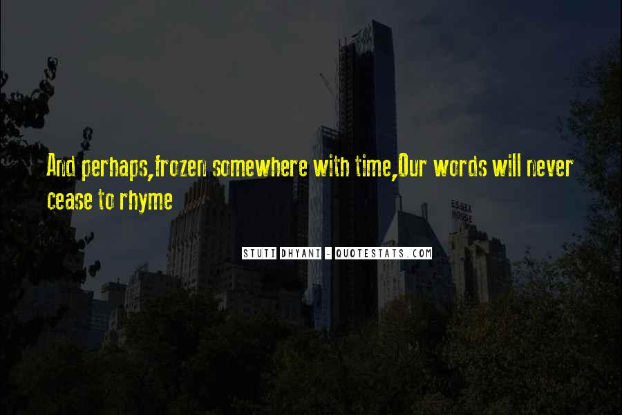 Quotes About Rhyme #79599