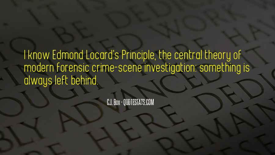 Quotes About Crime Scene Investigation #1011909