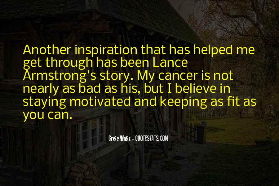 Quotes About Cancer Lance Armstrong #1311119