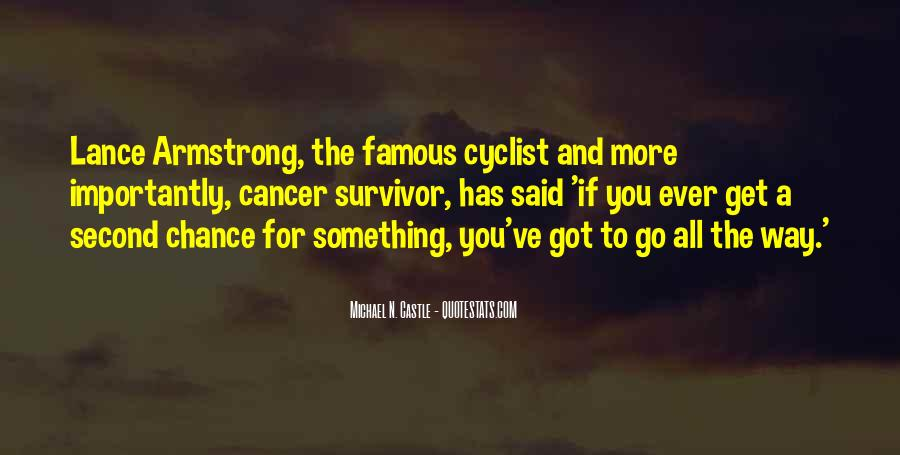 Quotes About Cancer Lance Armstrong #1666643