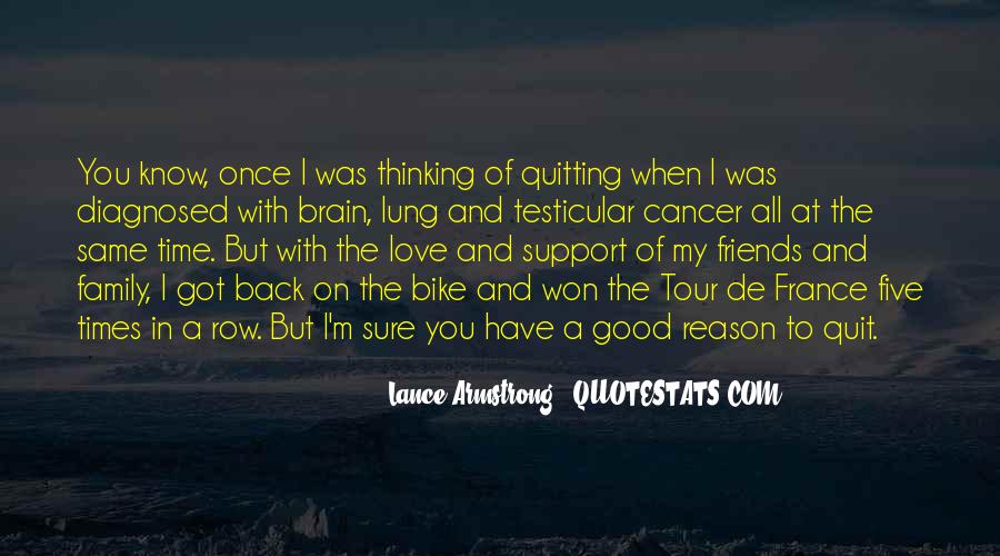 Quotes About Cancer Lance Armstrong #881437