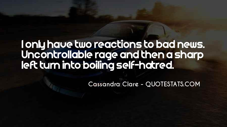 Quotes About Bad Reactions #34460