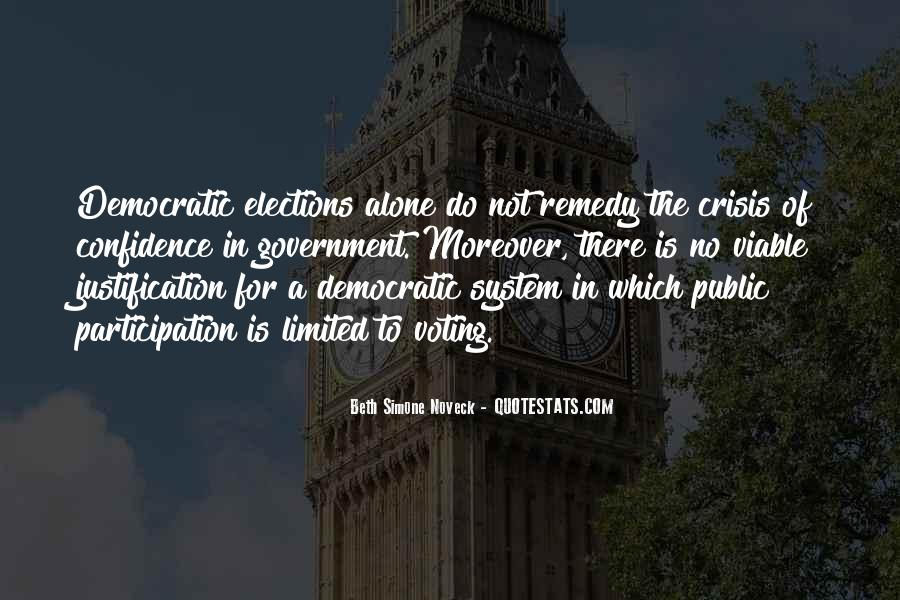 Quotes About Participation In Government #1062562