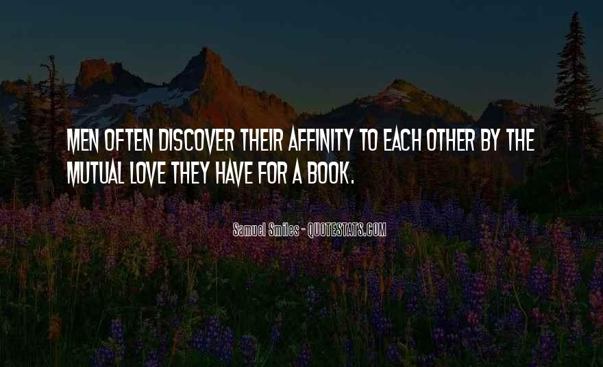Quotes About Affinity #284942