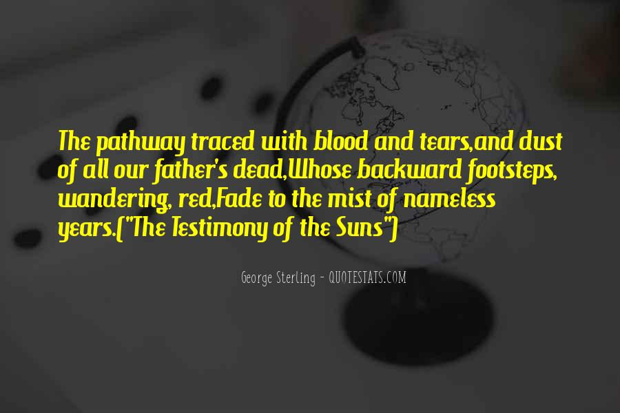Quotes About Blood Red #105415