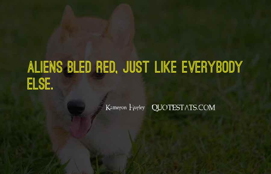 Quotes About Blood Red #170767