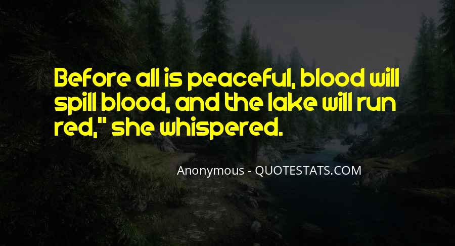 Quotes About Blood Red #354167