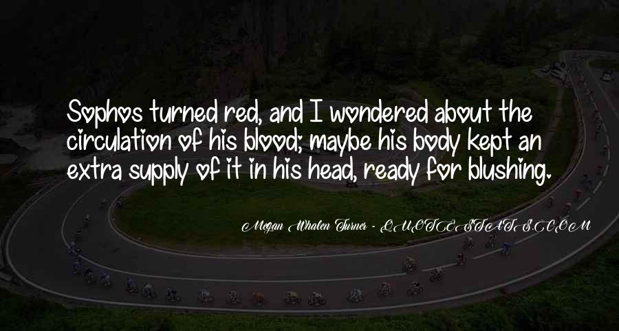 Quotes About Blood Red #371538