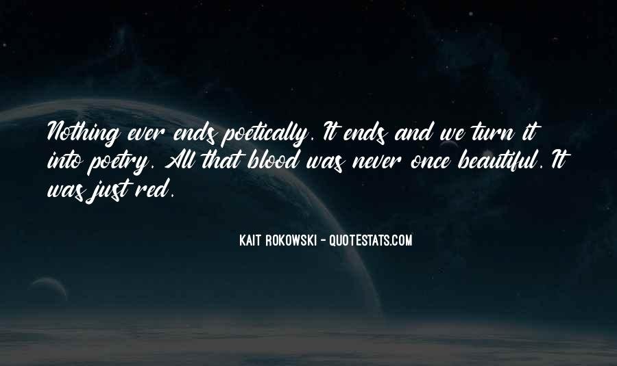 Quotes About Blood Red #442068