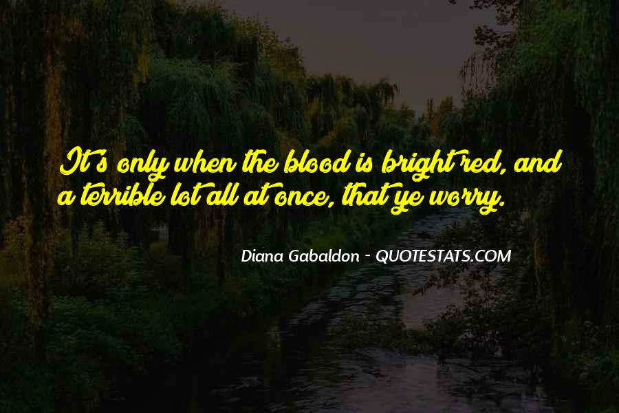 Quotes About Blood Red #447793