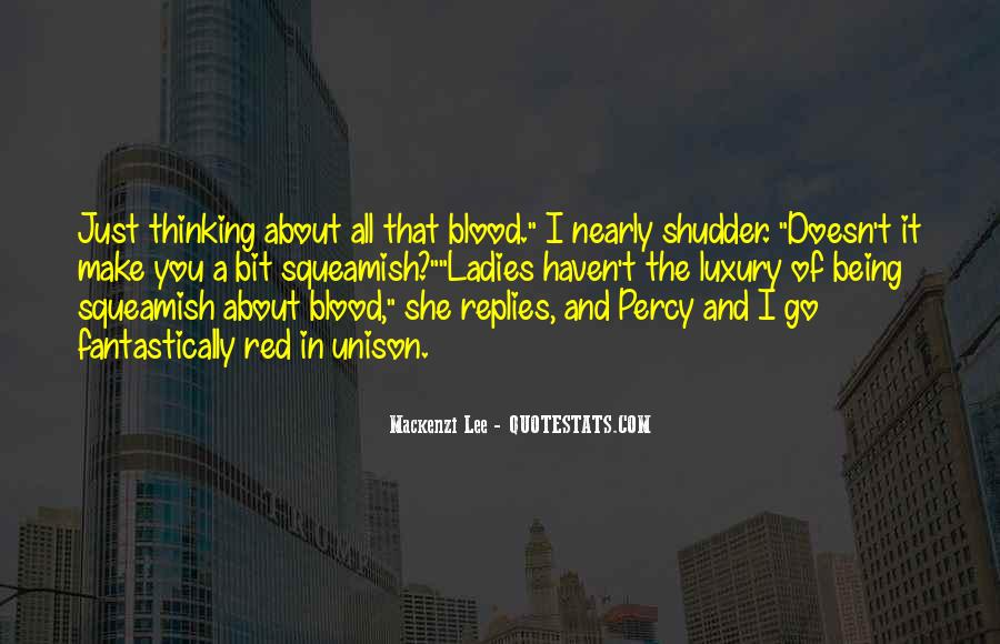 Quotes About Blood Red #526605