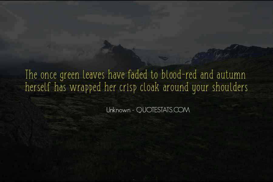 Quotes About Blood Red #552817