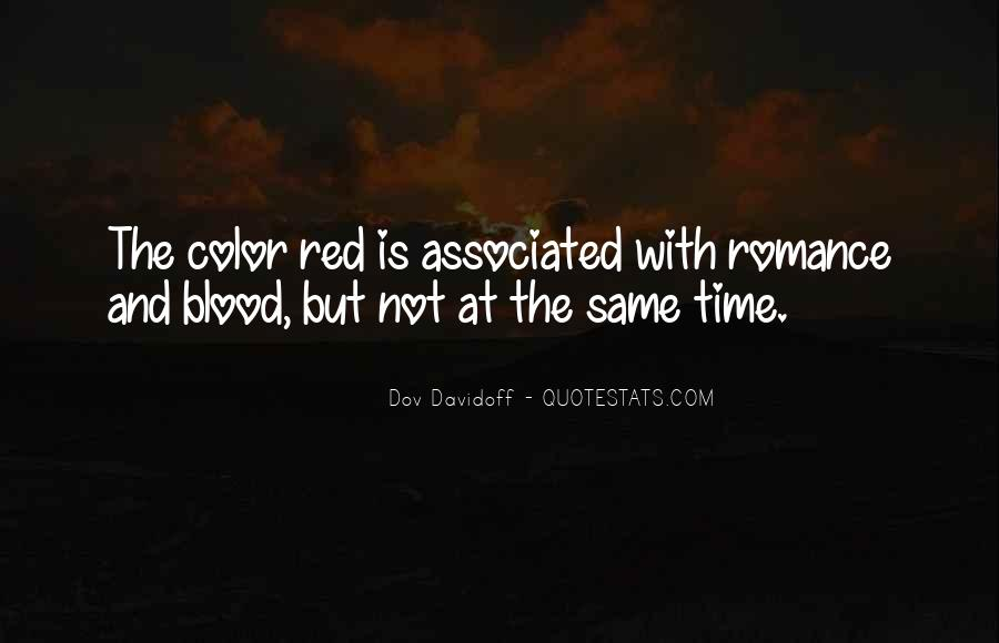 Quotes About Blood Red #561648
