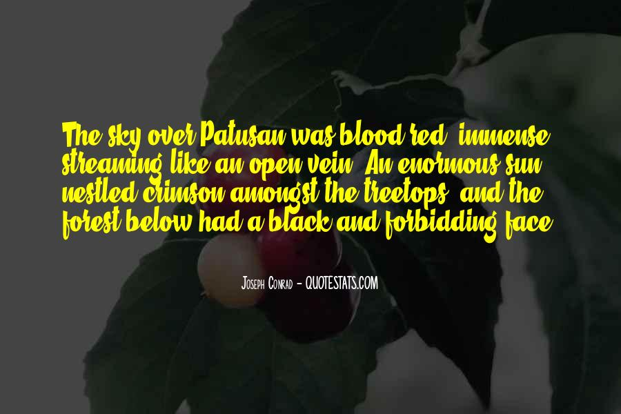 Quotes About Blood Red #652837