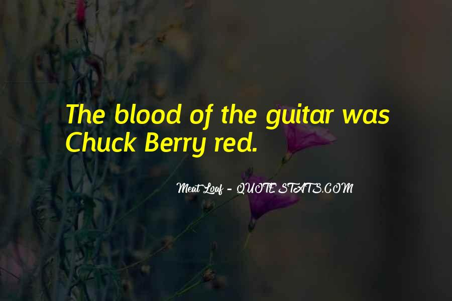 Quotes About Blood Red #678755