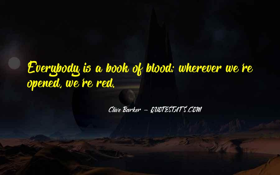 Quotes About Blood Red #683693