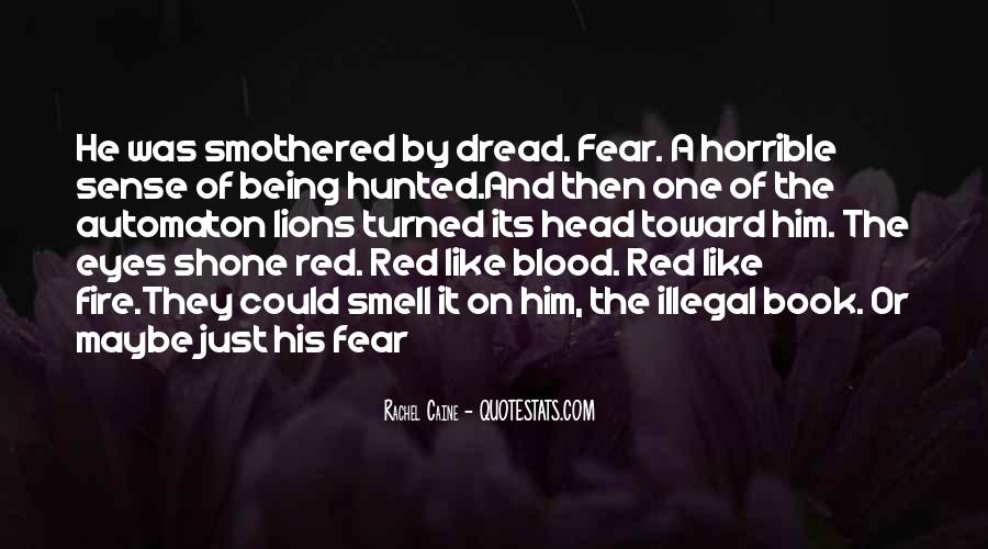Quotes About Blood Red #96604